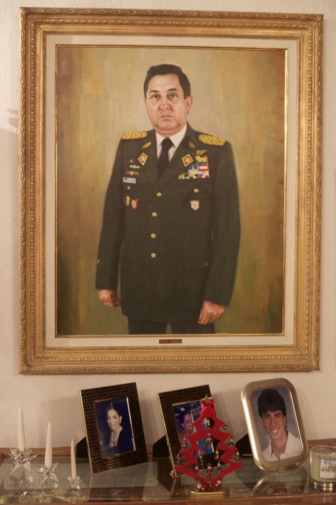 Detalles en la sala de estar del general.