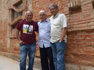 Suárez (izqu ierda) y sus amigos Santiago Pol y José Campos Biscardi.